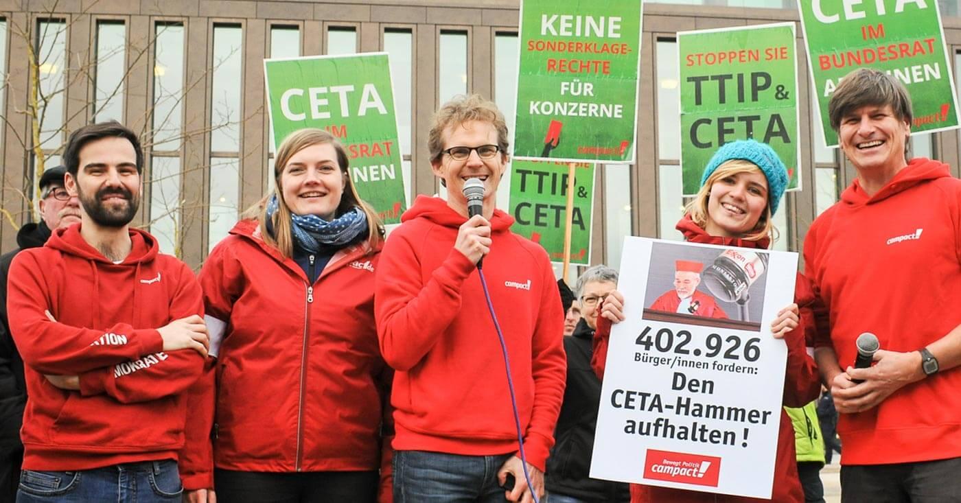 Das Campact-Team gegen TTIP und CETA