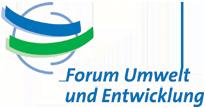 Logo Forum Umwelt und Entwicklung
