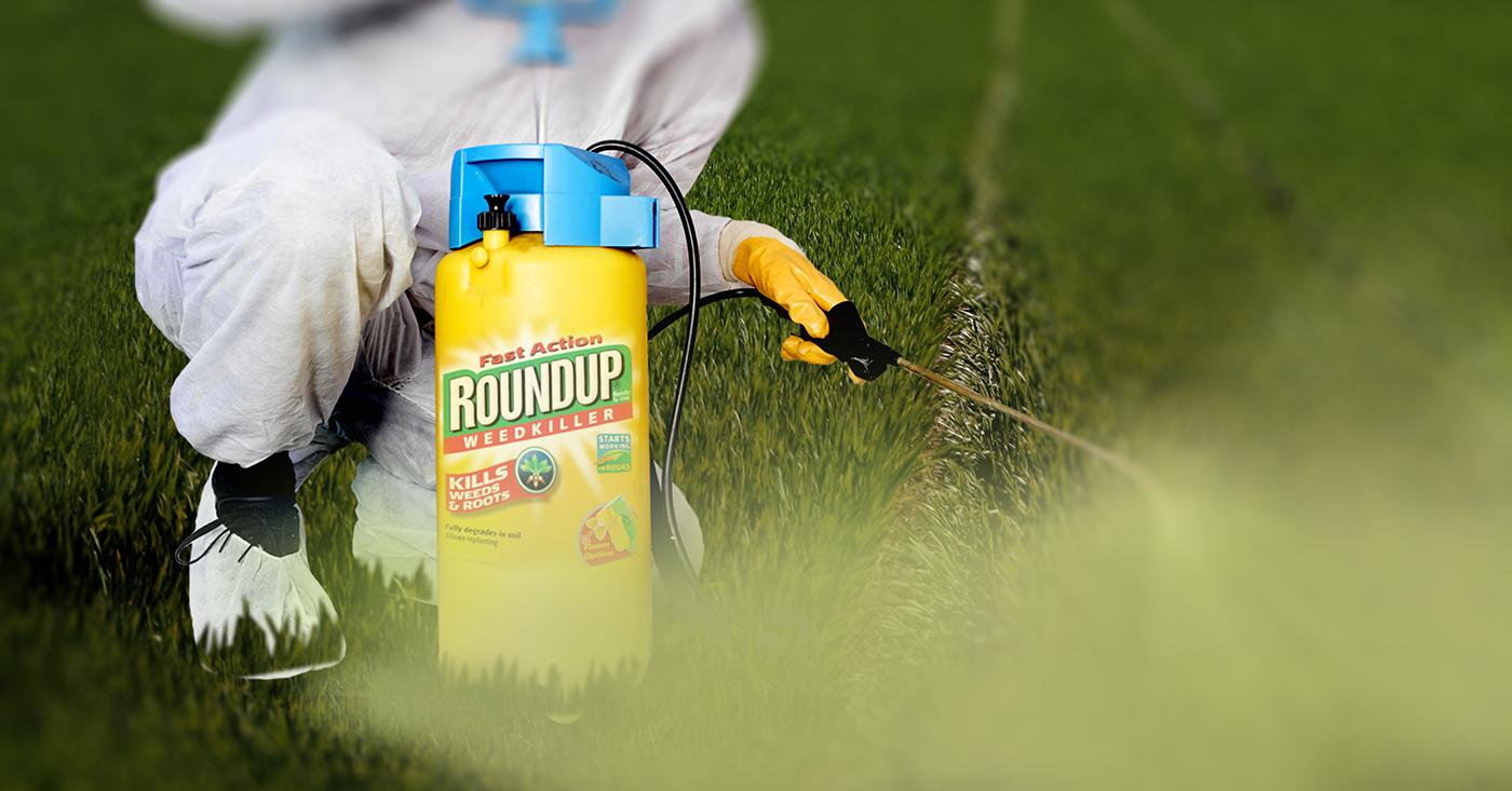 Monsanto Roundup wird gesprüht - Glyphosat Appell, Campact