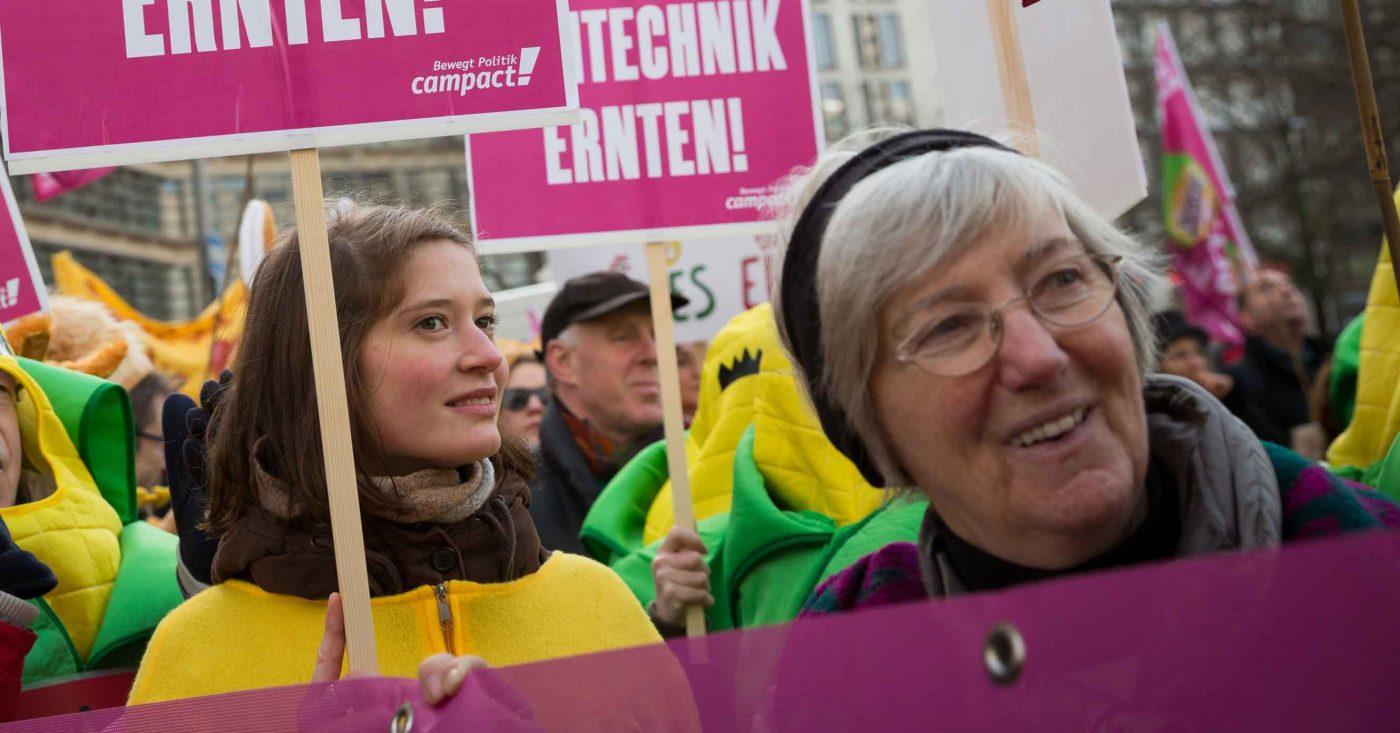 Campact Demo gegen Gentechnik