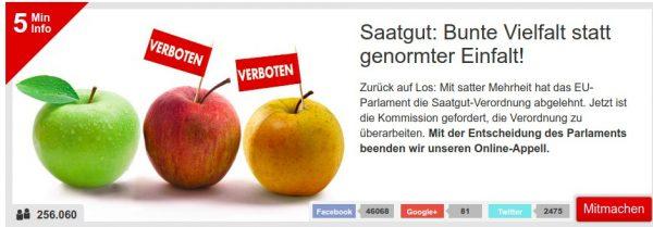 Kampagnen-Grafik Saatgut: Bunte Vielfalt statt genormter Einfalt!