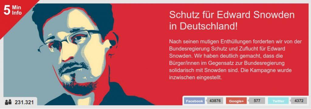 """Kampagnengrafik Snowden: Bild von Edward Snowden im Stil des berühmten Obama-Plakats """"Hope"""""""
