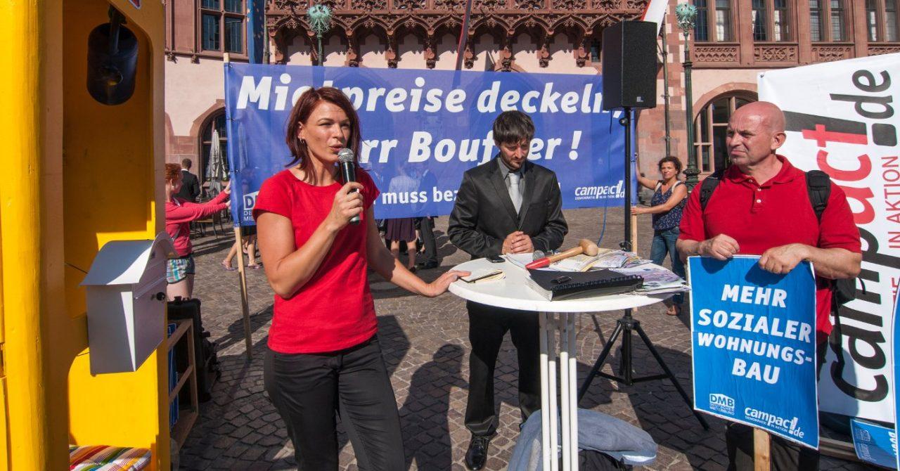 Demonstration gegen Mietenwahnsinn