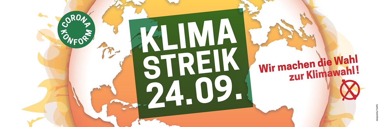 Nie war ein Streik so wichtig! Beim Klimastreik am 24. September gehen wir #allefürsklima auf die Straße!