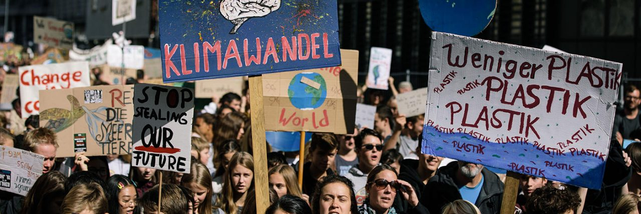Bunter Protest für das Klima