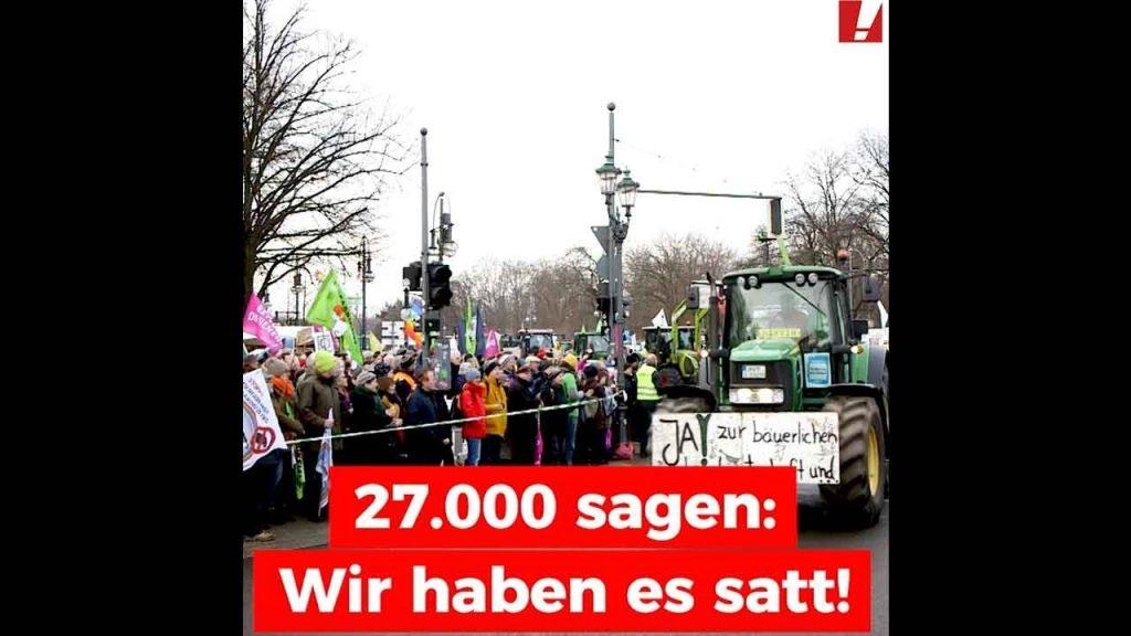 27.000 Menschen demonstrieren für die Agrarwende