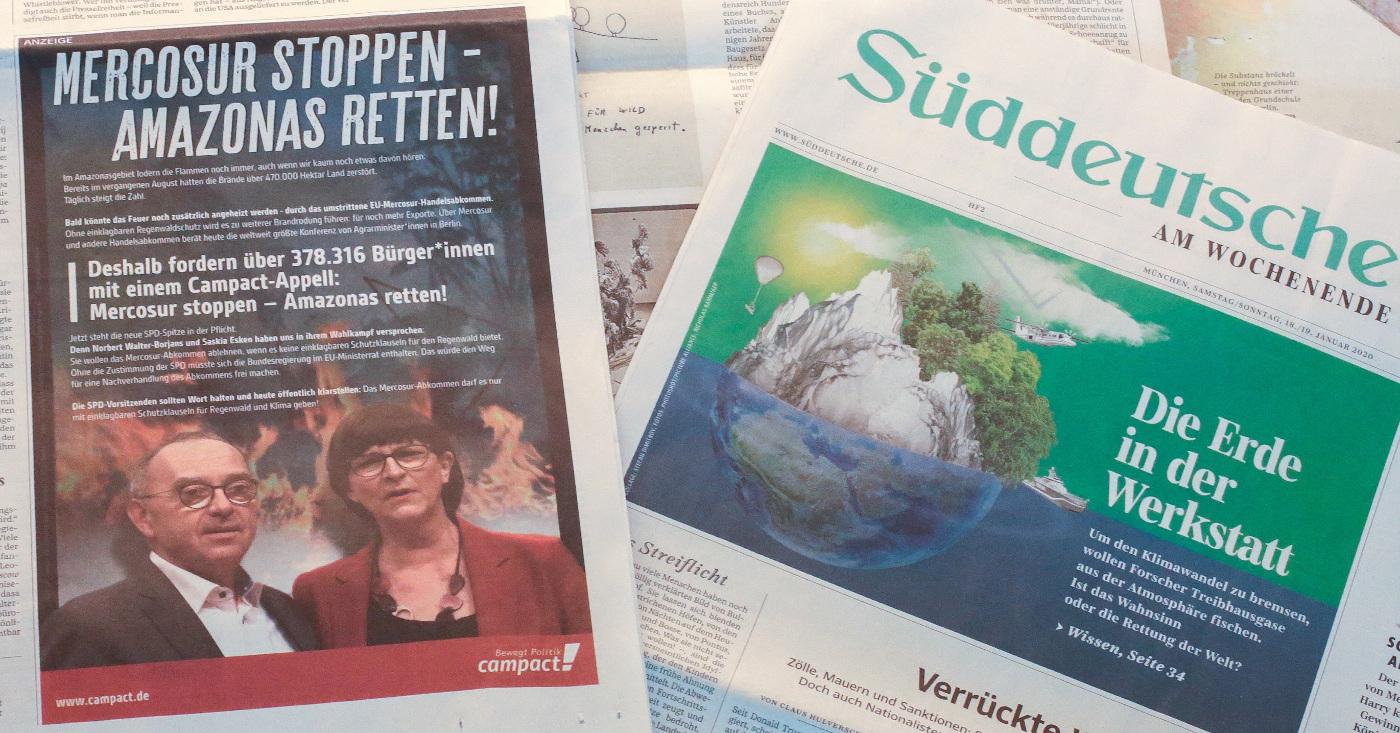 Mercosur Anzeige Süddeutsche