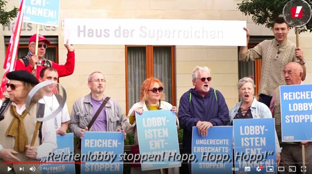 Campact Aktion Lobbyismus enttarnen und ungerechte Erbschaftssteuer stoppen!