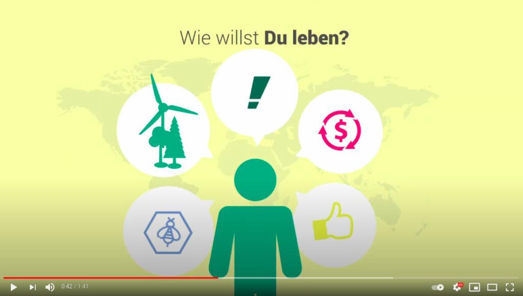YouTube-Screenshot: Linda Neddermann, Campact Campaignerin, erklärt, was der Aufbruch 2017 ist