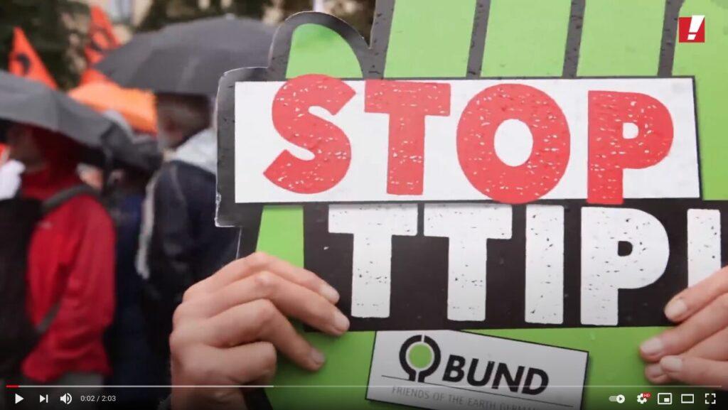 YouTube-Screenshot: 320.000 Menschen demonstrieren gegen TTIP und CETA in sieben Städten Deutschlands