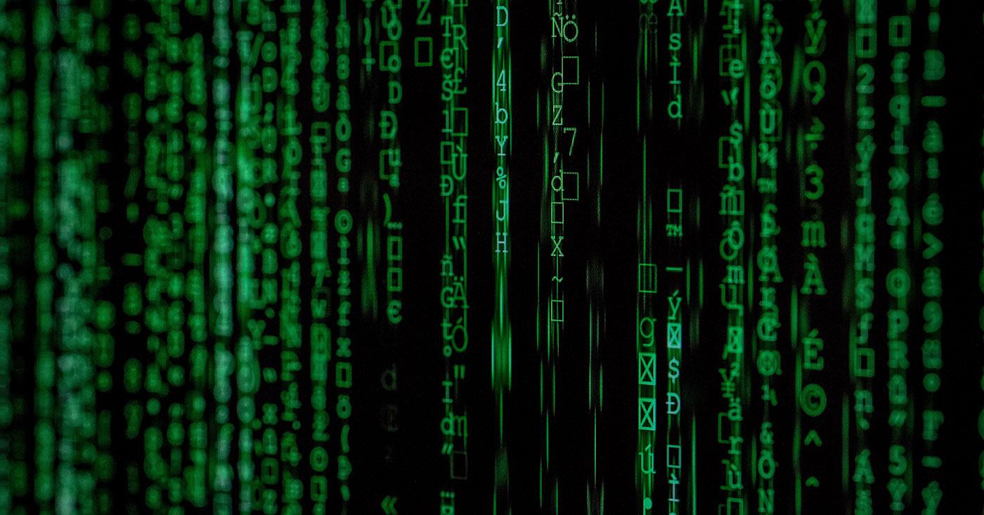 Datenschutz - dafür streitet Campact seit Jahren. Auf dem Bild ist eine Abbildung einer Computer-Matrix zu sehen