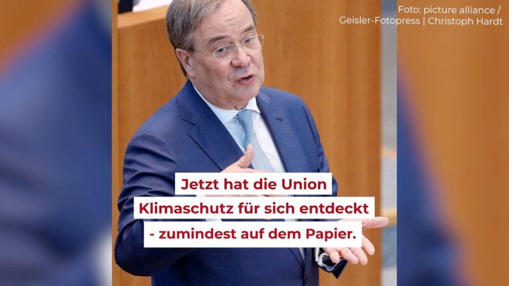 """Screenshot aus einem Video """"Armin Laschet und der Klimaschutz – wie viel Klima steckt im CDU-Wahlprogramm?"""""""