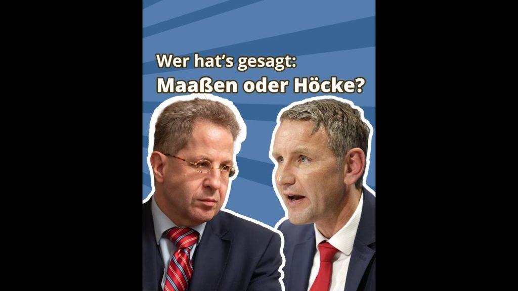 """Fotomontage von Hans-Georg Maaßen und Björn Höcke: """"Wer hat's gesagt? Maaßen oder Höcke?"""""""